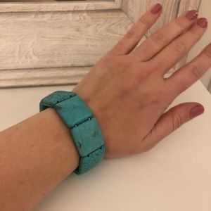 Chico's Turquoise rustic statement bracelet